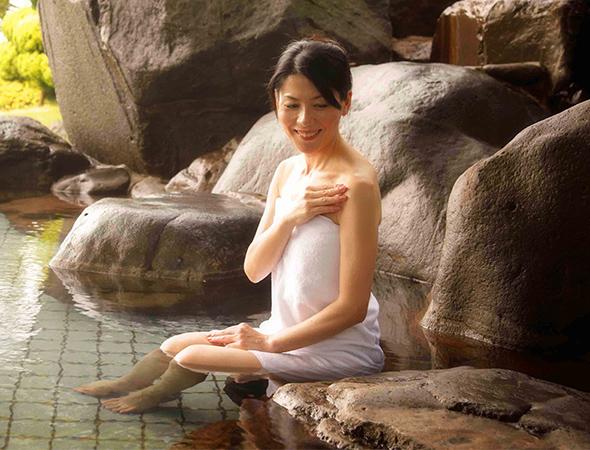 瀬戸内海が一望できる天然温泉露天風呂